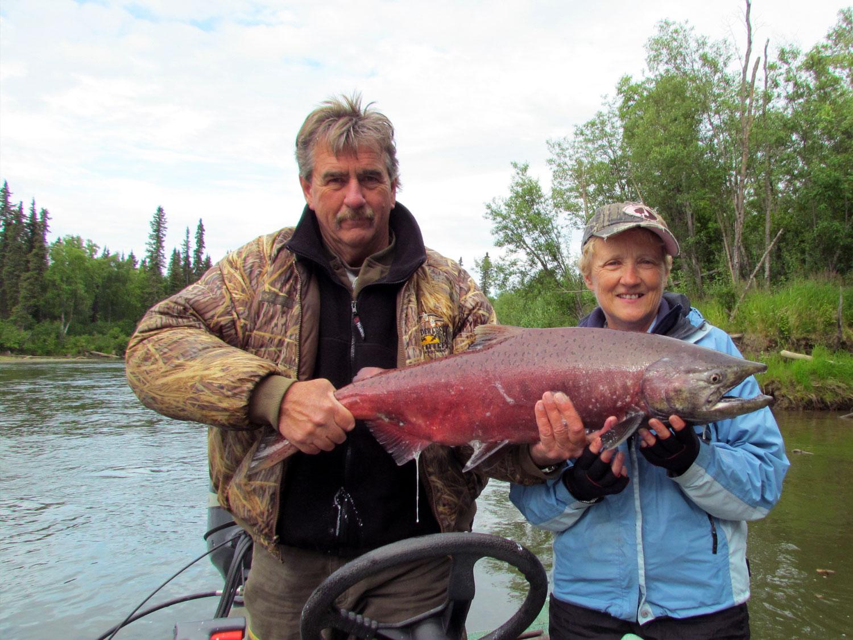 Trophy Alaska Salmon Fishing